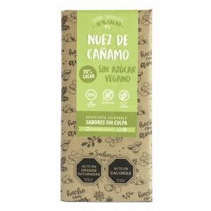 Barra Chocolate Nuez de Cañamo Sabores Sin Culpa