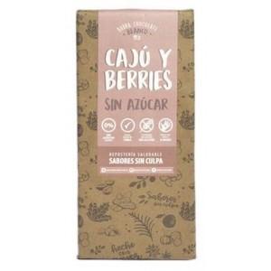 Barra Chocolate Blanco Cajú y Berries Sabores Sin Culpa